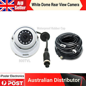 White Dome Eyeball 4PIN Rear View Reversing Camera Color IR Night Vision+10m Kit
