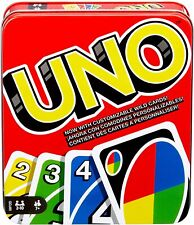 UNO: Family Card Game, with 112 Cards in a Sturdy Storage Tin, Travel-Friendly