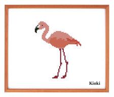 Cross stitch pattern Flamingo Counted Chart Scheme DMC