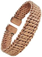 Magnetic Therapy Bracelet Mens or Womens Rope Twist Copper Bangle Wristband - M5