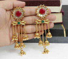 Indian Bollywood Gold Plated Party Earrings Pearl Jhumki Fashion Women Jewelry