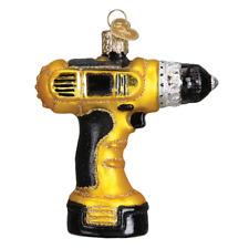 """Power Drill"" (32249)X Old World Christmas Glass Ornament w/ OWC Box"