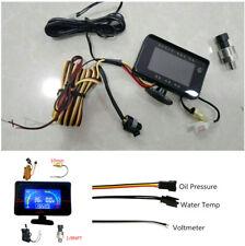 Auto LCD 3 Funktion LKW Öldruckanzeige + Voltmeter + Wassertemperaturanzeige