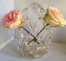 Antique American Hand Blown Glass Flower Holder Vase