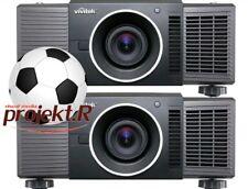 16.000 lumens stack of 2 VIVITEK D8010W Demo projectors + lens, HD-SDI