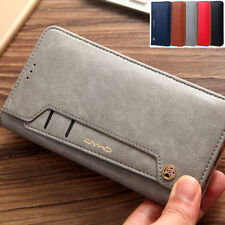 Luxury Magnetic Flip Leather Wallet Card Case Stand Cover Samsung S9 S8 Plus S7