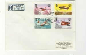 1986 BRITISH ANTARCTIC -  REGISTERED COVER FROM COLLECTION L5
