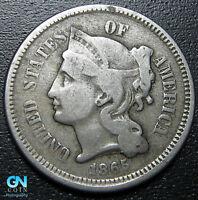 1865 3 Cent Nickel Piece  --  MAKE US AN OFFER!  #G5416