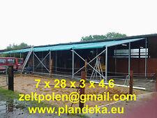 Pultdach Zelthalle Lagerzelt 7 x 28 x 3 Montage Gratis!!!