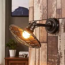 Wandleuchte Pekka Industriestil Gitterabdeckung Wandlampe Lampenwelt Dunkelgrau