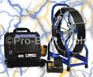 100' PB2000 Ultra Elite Series Battery Powered Sewer Inspection Camera System
