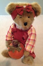 """Country 'Pumpkin Harvest' Bear & Stand, 8x14"""", Adorable!"""