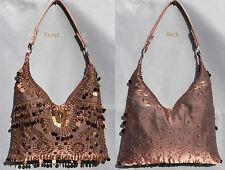 Neuf perlé paillettes sac à main soirée/porte-monnaie/pochette couleur : Brun #5