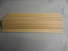 """Free Ship, 75 Count, 1/4"""" x 16"""" Grooved Wooden Dowel Rods"""