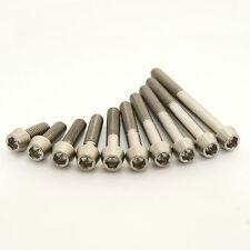 M6 Titanium Bolts Taper Cone head 10 15 20 25  30 35 40 45 50 55 60 allen Ti gr5