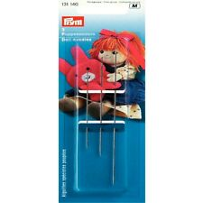 PRYM ASSORTED DOLL NEEDLES, 3 PCS, 7CM, 9CM, 12.5CM  (131 140) FREE P&P