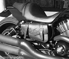 Sacoche latérale en Cuir Tête de Mort SKULL Pour Harley V-rod / night rod vrod