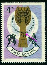 1966 Football,soccer,England FIFA World Cup,Romania,4.00 LEI,MNH variety ERROR/1