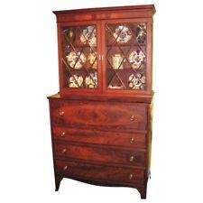 Antique American Federal Mahogany Secretary Bookcase Circa 1800