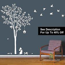 Autocollants Muraux Arbre Fleur Nursery Kids Art Decals Papillon Vinyle décors __ PD368