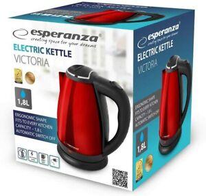 Esperanza Design Wasserkocher 1,8 Liter Teekocher Edelstahl 1800 Watt #X12-625-J