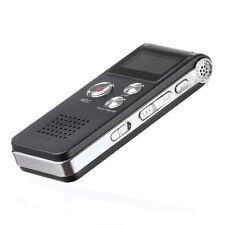 8 GB wiederaufladbare Stahl Digital Sound Voice Recorder Diktiergerät MP3 Player