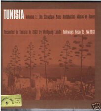 LP TUNISIA CLASSICAL ARAB ANDALUSIAN MUSIC OF TUNIS VOL 1 FOLKWAYS