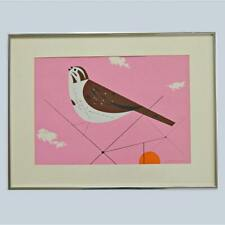 """Charley Harper Signed Ford Times Serigraph """"Song Sparrow"""""""