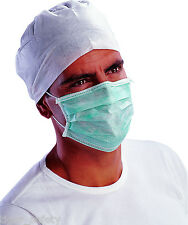 Delta Plus Venitex MASQUG Vert Papier Jetable Médical De Visage Case 50