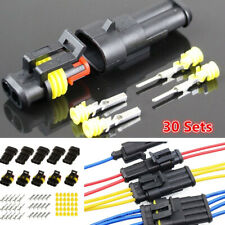30 Sets Electrical 1 2 3 4 5 6 Pin Sealed Wire Connector Terminal Plug for Car