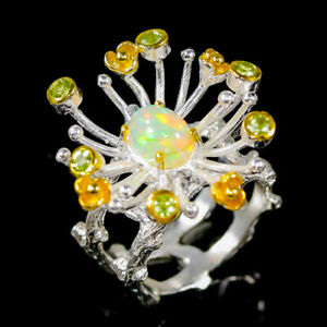 Wholesale jewelry Opal Ring Silver 925 Sterling  Size 7.5 /R169787