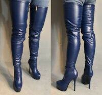 Nightclub Women's Over Knee High Boots Stiletto High Heel Boots Shoes Show Ths01