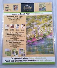 Plaid Folk Art One Stroke Learn To Paint Pack River Birches New Trees 5017
