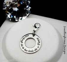 Beautiful And Though She Be But Little She Is Fierce Quote Clip On Charm Pendant