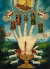 """Unknown : """"The All-Powerful Hand / Five Persons"""" (1800s) — Giclee Fine Art Print"""
