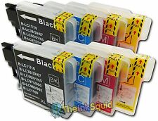 8 LC980 Ink Cartridges for Brother DCP-195C DCP 195 C