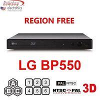 LG BP550 3D Multi Region Code Free Blu-ray Player - A B C & 0-9 - Dual Voltage