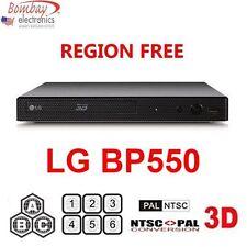 LG BP550 3D MULTI REGION CODE FREE Blu-ray Player-A B C & 0-9 - Dual Voltage