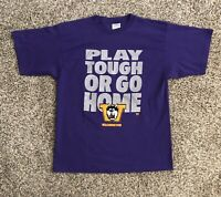 VTG Washington Huskies Mens S/S T-Shirt Large Purple 100% Cotton Graphic NCAA