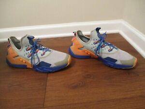 Used Worn Size 13 Nike Air Huarache Drift Shoes Gray Blue Orange AH7334 005