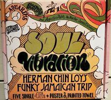 **  SOUL VIBRATION  HERMAN CHIN LOYS FUNKY JAMAICAN TRIP 7in BOX SET POSTER etc!