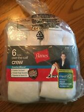 Hanes Comfort Blend Over The Calf Crew Socks 6 Pairs
