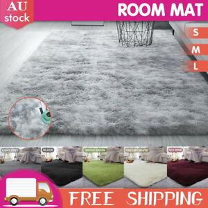 Floor Mat Rugs Shaggy Rug Area Carpet Large Soft Mat Bedroom Living Room Mats AU
