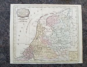 19th century engraving map, Seven United Provinces from the best authorities
