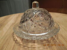 EAPG Child's Set Miniature Clear Covered Butter Dish