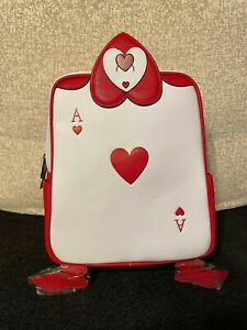 Loungefly Alice In Wonderland Backpack Card Soldiers Ace 70 years Disney 2021