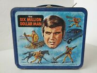 Vintage 1974 The Six Million Dollar Man Aladdin metal lunchbox no thermos