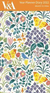 CFA Voysey Spring Flowers 2022 Year Planner Slim Calendar Diary