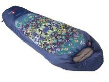 Grüezi Bag Schlafsack Mumienschlafsack Catalina Jardin Blau Leichtschlafsack