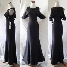 NEW Vince Camuto BLACK Ruffle COLD SHOULDER Crepe COCKTAIL Mermaid GOWN 4